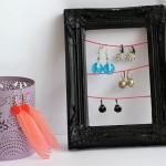 DIY sieraden rekje voor oorbellen