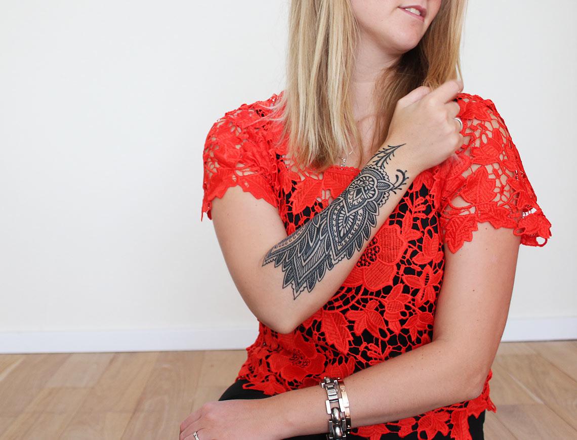 echte tattoo henna stijl - henna style tattoo.