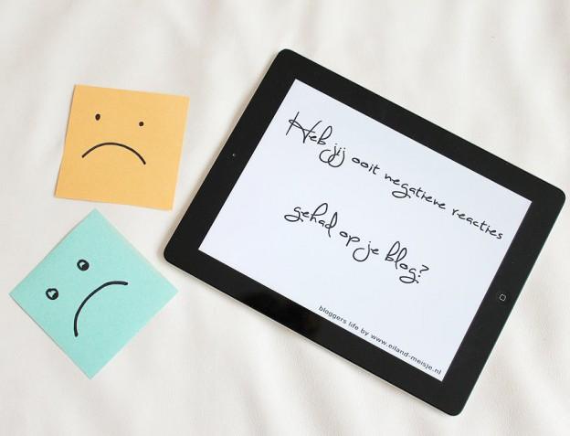 negatieve reacties op je blog en hoe je er mee om kunt gaan.