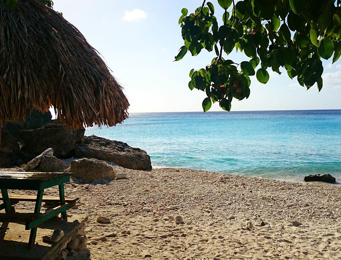 kleine knip curacao stranden