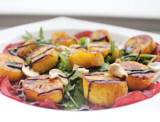 recept: bakbanaan salade