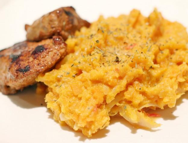 hutspot met zoete aardappel - voedsel zandloper proof