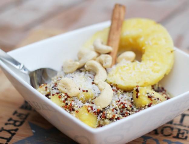 quinoa ontbijt recept - quinoa met fruit