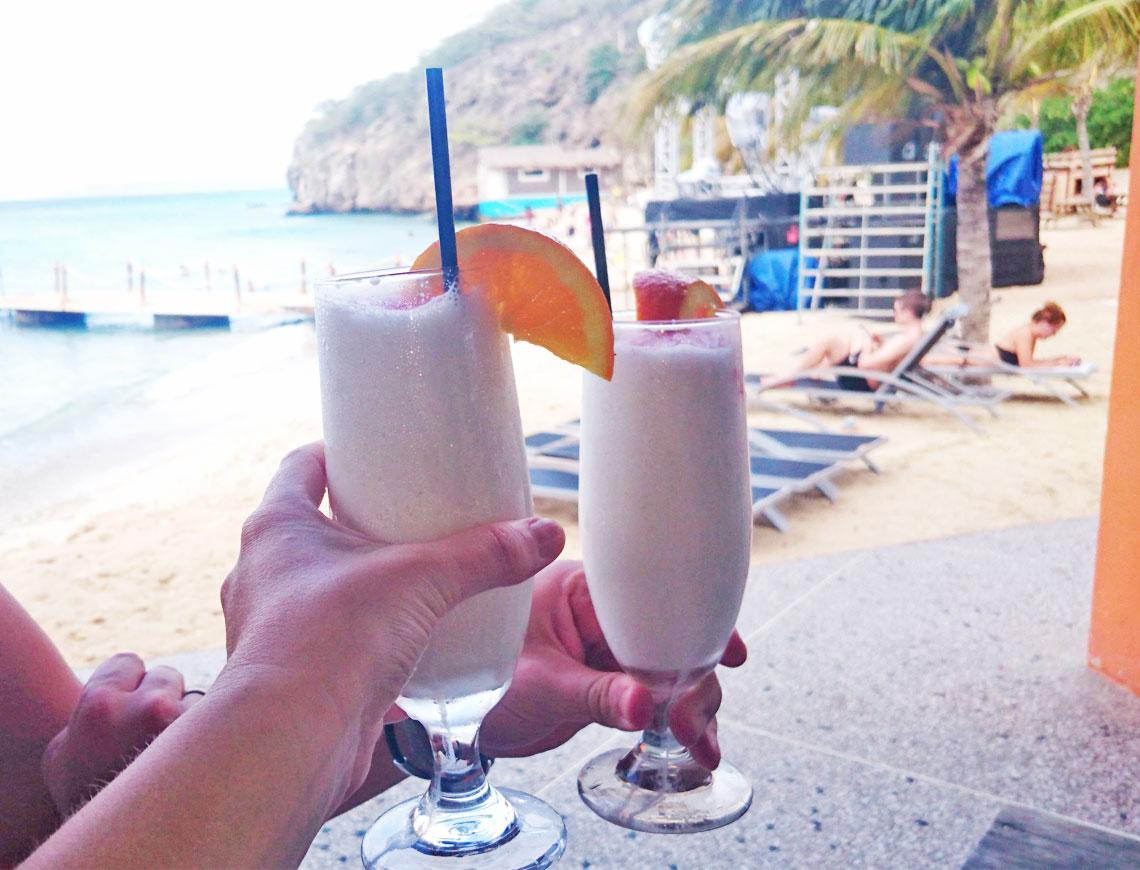 cocktails op het strand