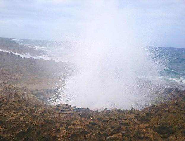 suplado / natuurlijke jacuzzi. Blow hole aan de noordkust van Curacao