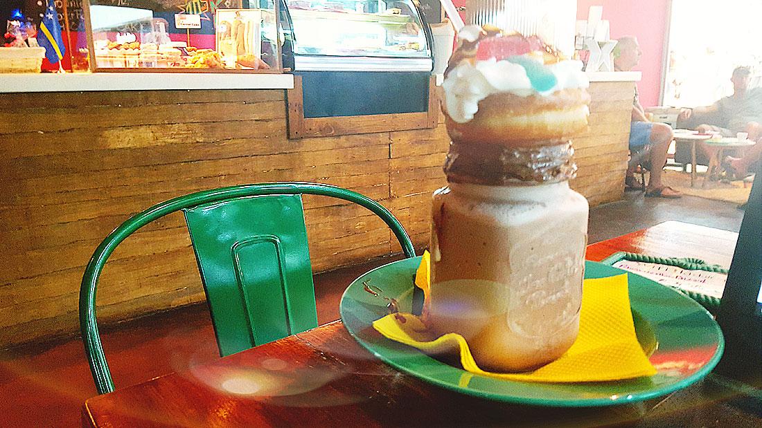 koffie tentje op Curacao